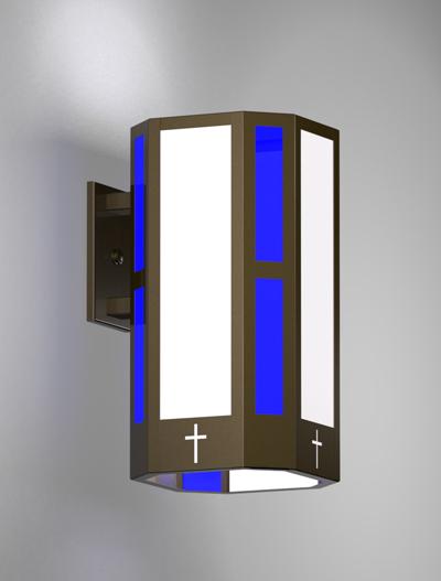 Brookville Series Wall Bracket Church Lighting Fixture in Duranodic 313 Finish