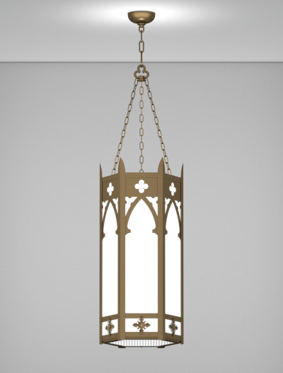 Cambridge Series Pendant Church Lighting Fixture in Medium Bronze Finish