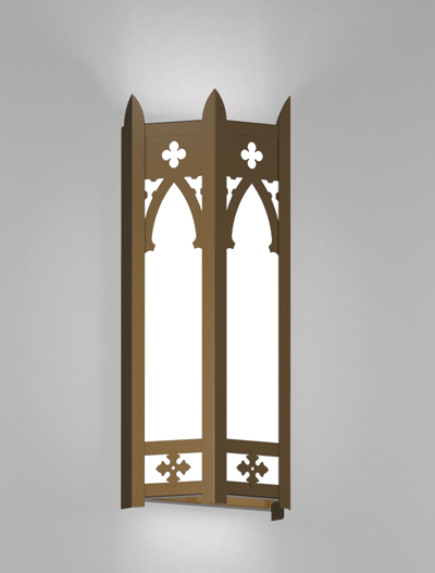 Cambridge Series Wall Sconce Church Lighting Fixture in Medium Bronze Finish