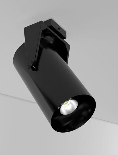 Chandler Series Yoke Swivel Church Lighting Fixture in Semi Gloss Black Finish