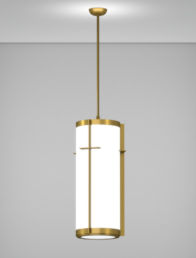 Cleveland Series Pendant Church Lighting Fixture in California Gold Finish
