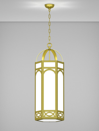 Dover Series Pendant Church Lighting Fixture in Satin Brass Finish