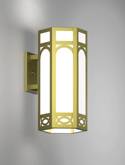 Dover Series Wall Bracket Church Lighting Fixture in Satin Brass Finish