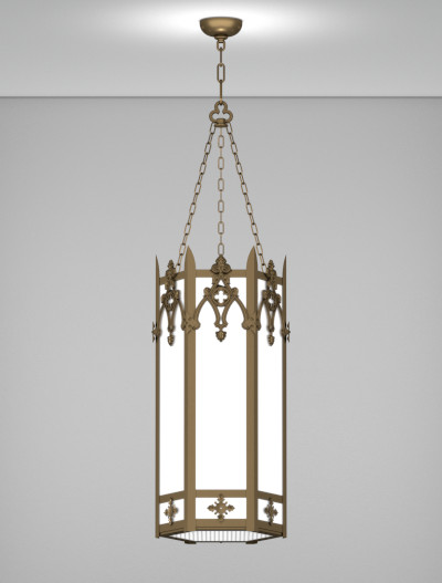 Easton Series Pendant Church Lighting Fixture in Medium Bronze Finish