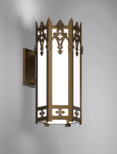 Easton Series Wall Bracket Church Lighting Fixture in Medium Bronze Finish