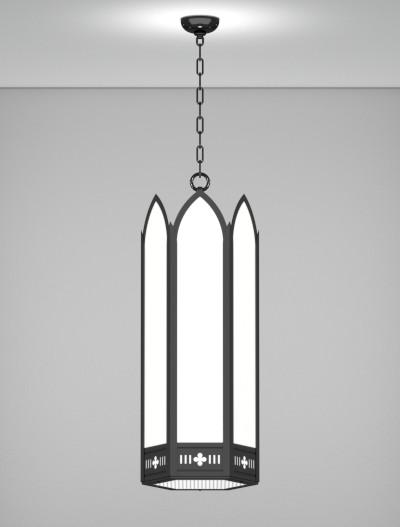 Gainesville Series Pendant Church Lighting Fixture in Semi Gloss Black Finish