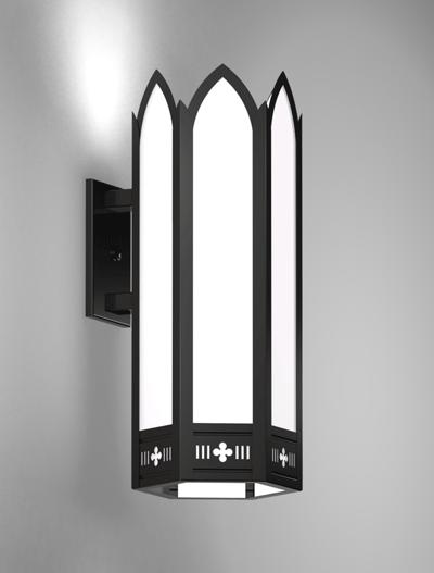 Gainesville Series Wall Bracket Church Lighting Fixture in Semi Gloss Black Finish