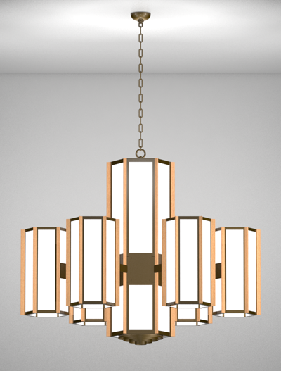 Hampton Series 6-Arm Satellite Pendant Church Lighting Fixture in Duranodic 313 Finish