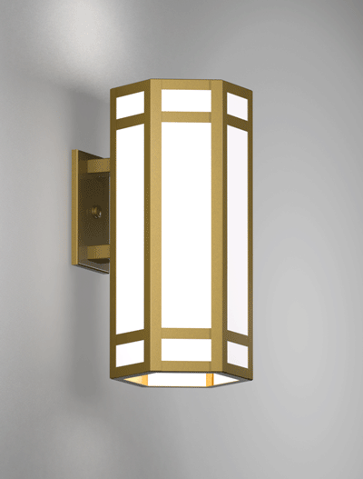 Hebron Series Wall Bracket Church Lighting Fixture in California Gold Finish