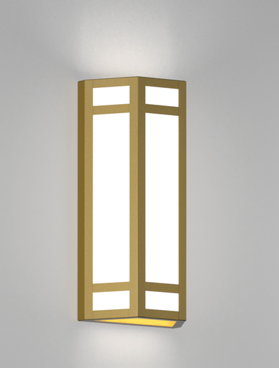 Hebron Series Wall Sconce Church Lighting Fixture in California Gold Finish