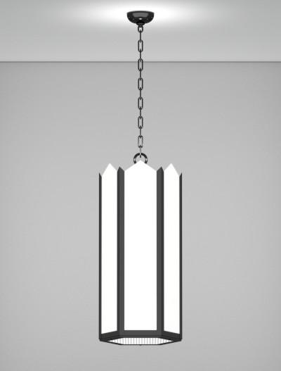 Hancock Series Pendant Church Lighting Fixture in Semi Gloss Black Finish