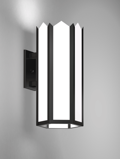 Hancock Series Wall Bracket Church Lighting Fixture in Semi Gloss Black Finish