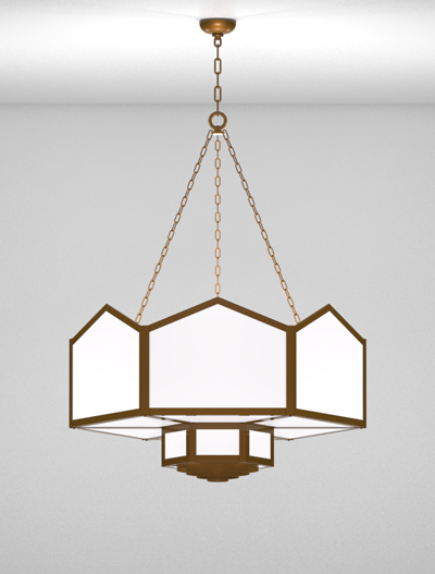 Hammond Series 2-Tier Large Pendant Church Lighting Fixture in Nu Bronze Finish