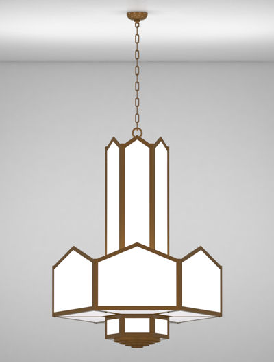 hammond series 3 tier large pendant church lighting fixture in nu