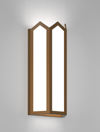 Hammond Series Wall Sconce Church Lighting Fixture in Nu Bronze Finish