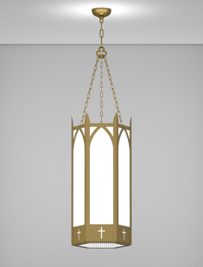Hartford Series Pendant Church Lighting Fixture in Roman Gold Finish