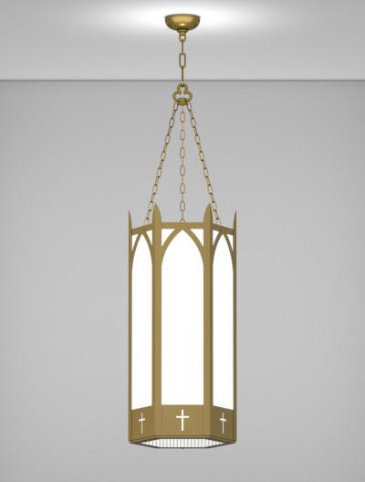 Hartford Series Pendant Church Lighting Fixture in Roman Gold Finish