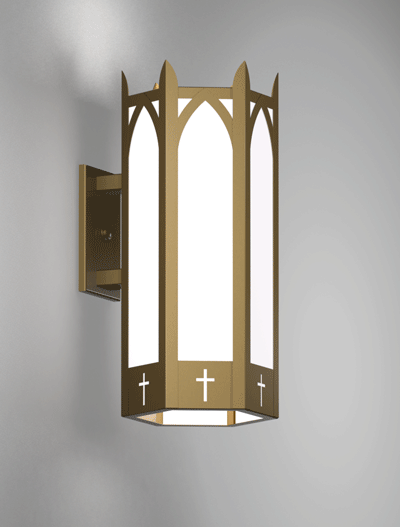Hartford Series Wall Bracket Church Lighting Fixture in Roman Gold Finish