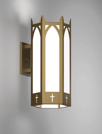 Hartford Series Wall Bracket Church Lighting Fixture in Roman Gold Finish