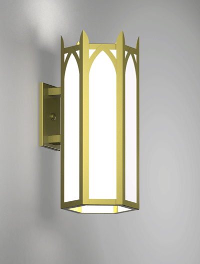Hagerstown Series Wall Bracket Church Lighting Fixture in Satin Brass Finish
