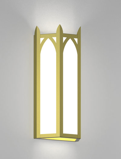 Hagerstown Series Wall Sconce Church Lighting Fixture in Satin Brass Finish