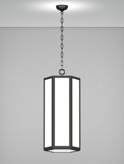 Houston Series Pendant Church Lighting Fixture in Semi Gloss Black Finish