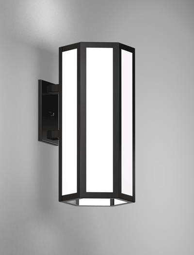 Houston Series Wall Bracket Church Lighting Fixture in Semi Gloss Black Finish
