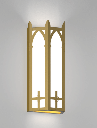 Ipswich Series Wall Sconce Church Lighting Fixture in California Gold Finish