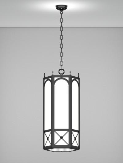 Jamestown Series Pendant Church Lighting Fixture in Semi Gloss Black Finish