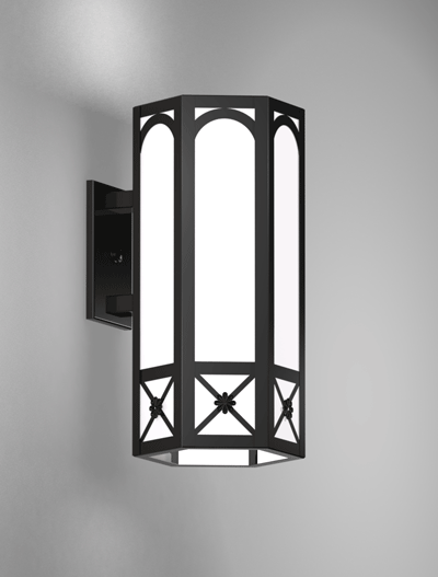 Jamestown Series Wall Bracket Church Lighting Fixture in Semi Gloss Black Finish