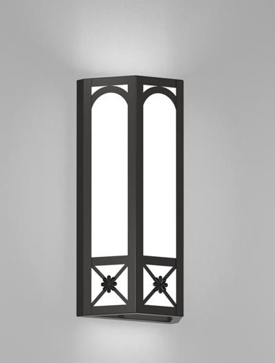 Jamestown Series Wall Sconce Church Lighting Fixture in Semi Gloss Black Finish