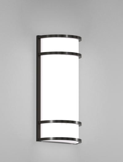 Los Angeles Series Wall Sconce Church Lighting Fixture in Semi Gloss Black Finish