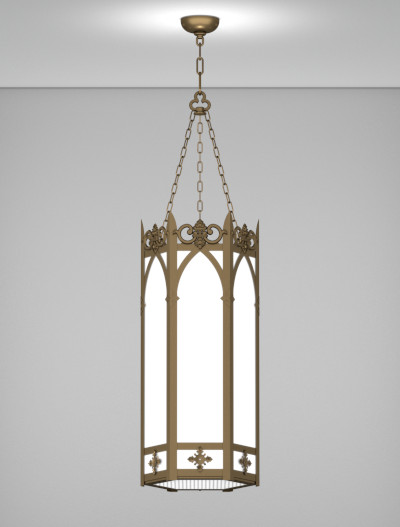 Lancaster Series Pendant Church Lighting Fixture in Medium Bronze Finish