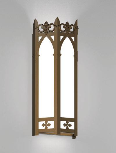 Lancaster Series Wall Sconce Church Lighting Fixture in Medium Bronze Finish