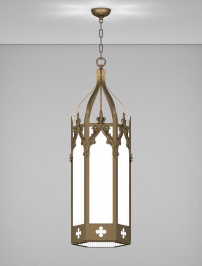 Lafayette Series Pendant Church Lighting Fixture in Medium Bronze Finish