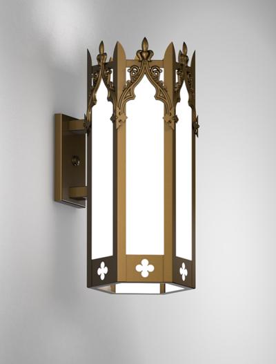 Lafayette Series Wall Bracket Church Lighting Fixture in Medium Bronze Finish