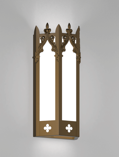 Lafayette Series Wall Sconce Church Lighting Fixture in Medium Bronze Finish
