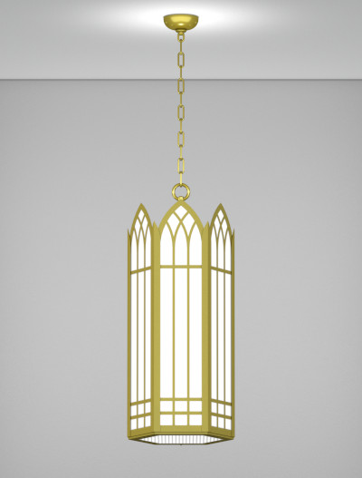 Norwich Series Pendant Church Lighting Fixture in Satin Brass Finish
