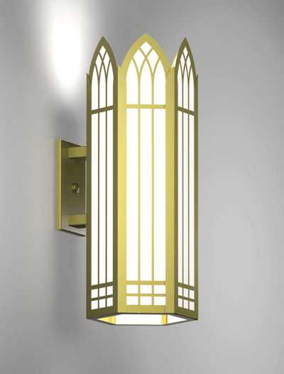 Norwich Series Wall Bracket Church Lighting Fixture in Satin Brass Finish