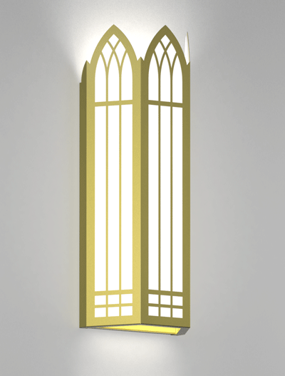 Norwich Series Wall Sconce Church Lighting Fixture in Satin Brass Finish