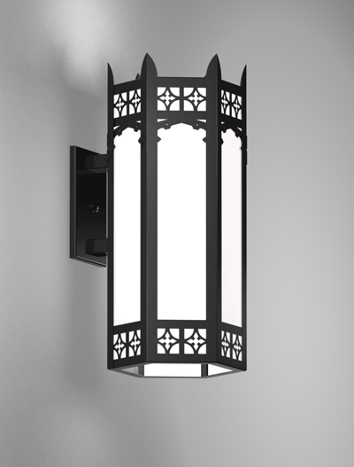 Oxford Series Wall Bracket Church Lighting Fixture in Semi Gloss Black Finish