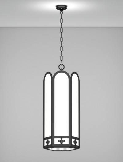 Randolph Series Pendant Church Lighting Fixture in Semi Gloss Black Finish