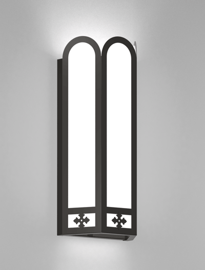 Randolph Series Wall Sconce Church Lighting Fixture in Semi Gloss Black Finish