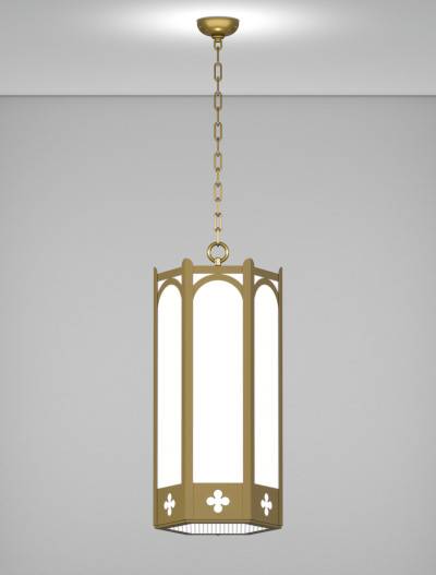 Roselle Series Pendant Church Lighting Fixture in Roman Gold Finish
