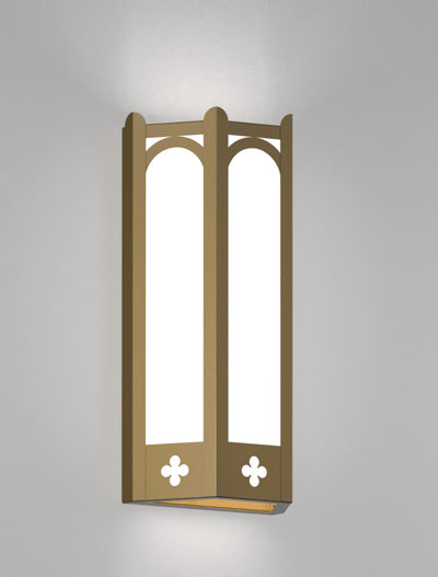 Roselle Series Wall Sconce Church Lighting Fixture in Roman Gold Finish