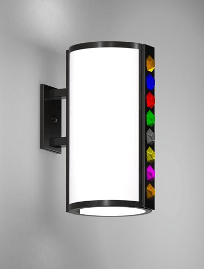 Rockford Series Wall Bracket Church Lighting Fixture in Semi Gloss Black Finish