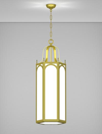 Raleigh Series Pendant Church Lighting Fixture in Satin Brass Finish