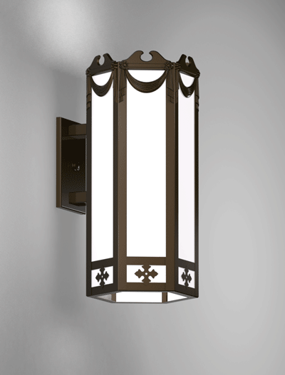 Richmond Series Wall Bracket Church Lighting Fixture in Statuary Bronze Finish