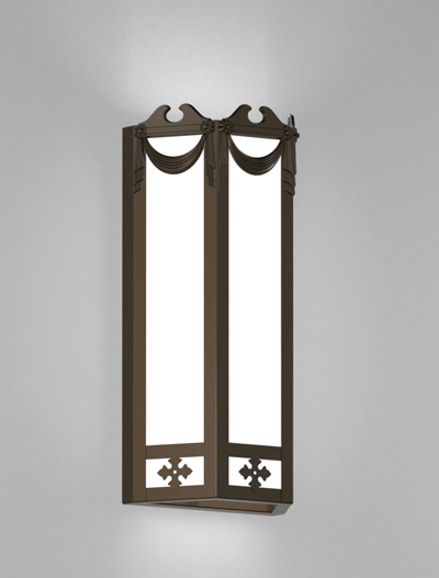 Richmond Series Wall Sconce Church Lighting Fixture in Statuary Bronze Finish