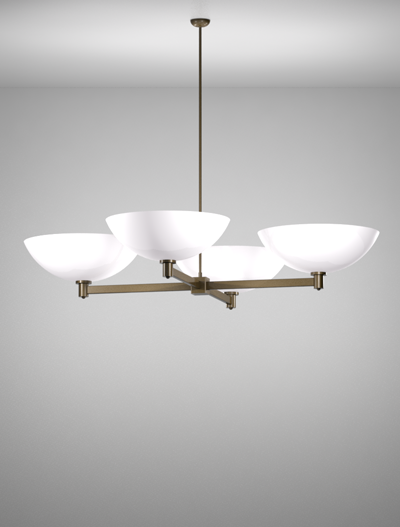San Antonio Series 4-Arm Cluster Pendant Church Lighting Fixture in Duranodic 313 Finish